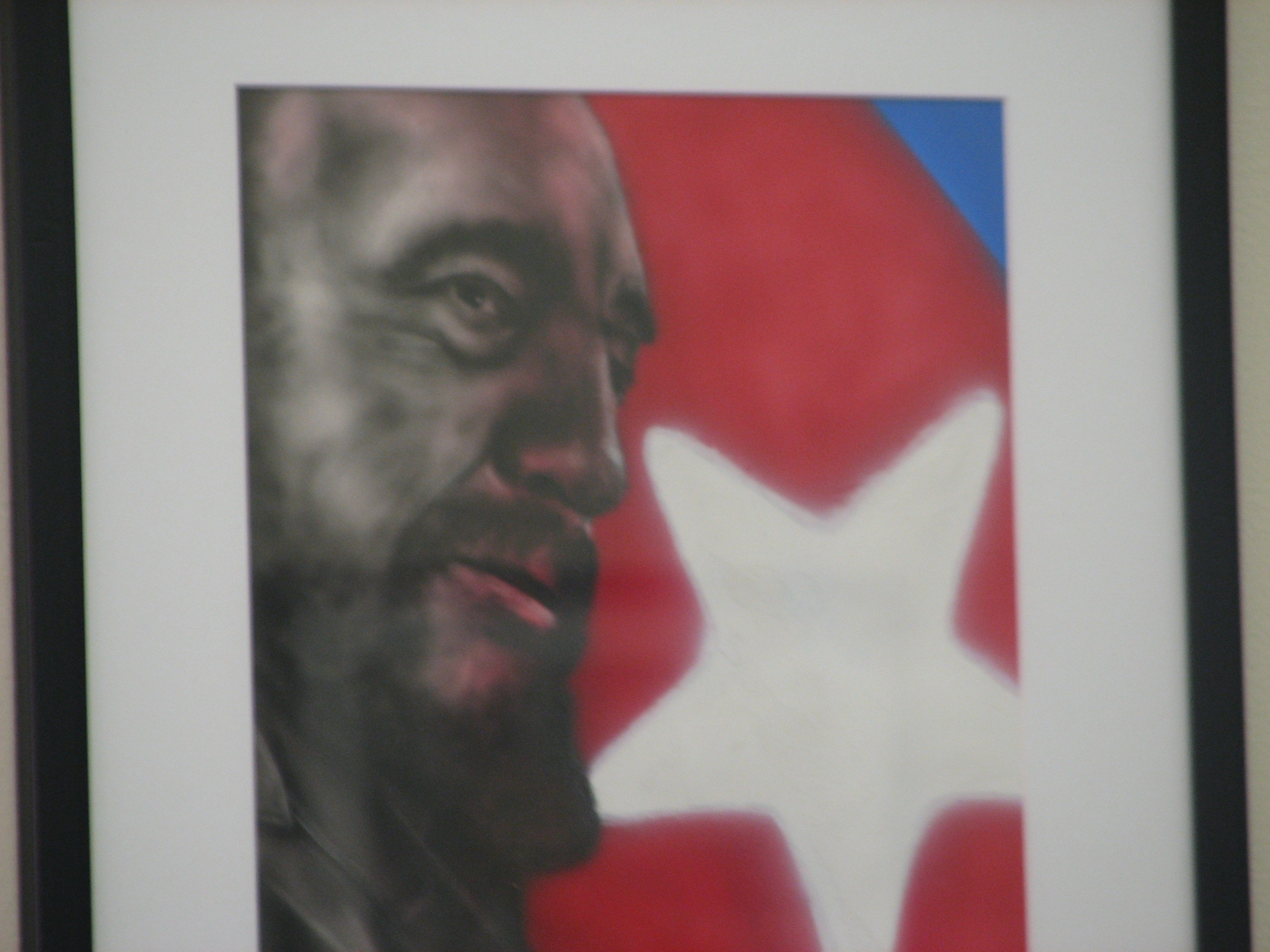 Painting by Antonio Guerrero, one of the Cuban 5