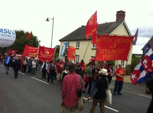 Trade unionists march in the UK at the Tolpuddle Martyrs' rally